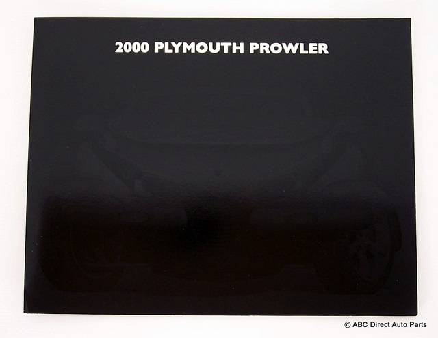 2000 Plymouth Prowler Saver Dealer Sales Brochure