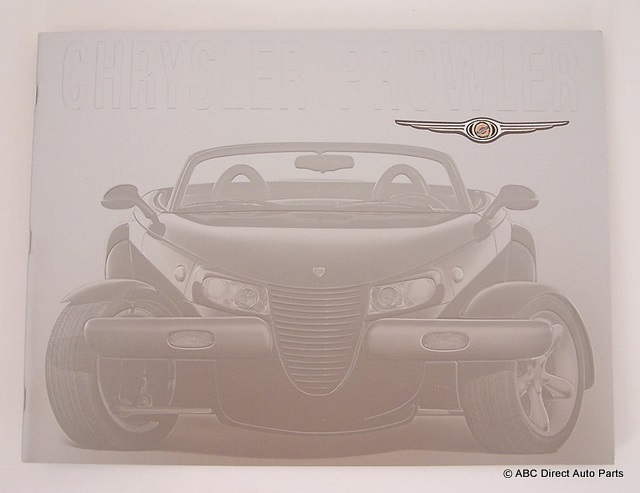 2001 Chrysler Prowler Deluxe Dealer Sales Brochure