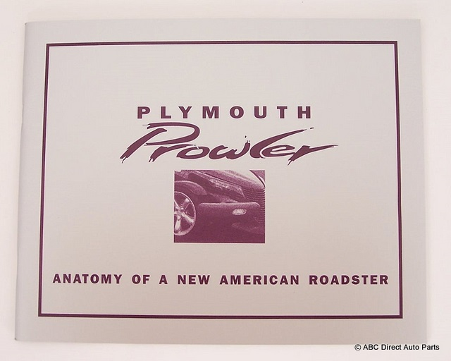 1997 Plymouth Prowler Concept Collectors Brochure