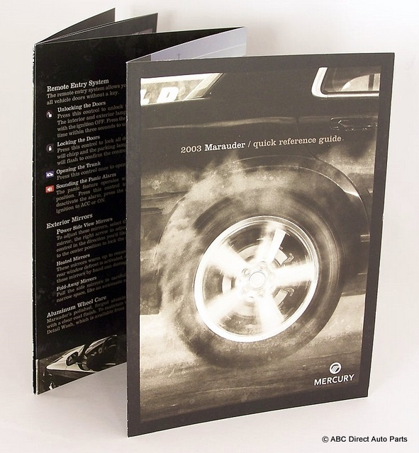 2003 Mercury Marauder Quick Reference Owners Manual