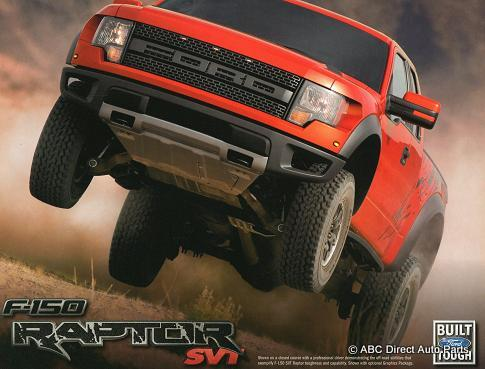 2010 Ford F150 SVT Raptor Dealer Sales Brochure