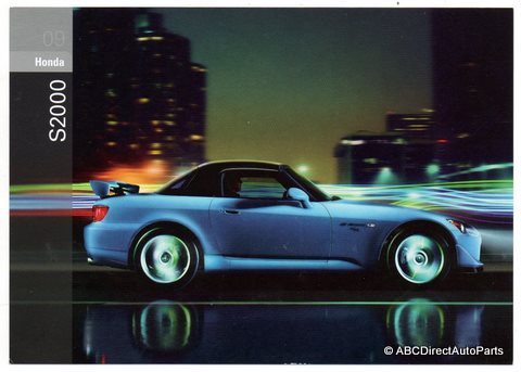 2009 Honda S2000 S 2000 CR Sales Promo Dealer Post Card