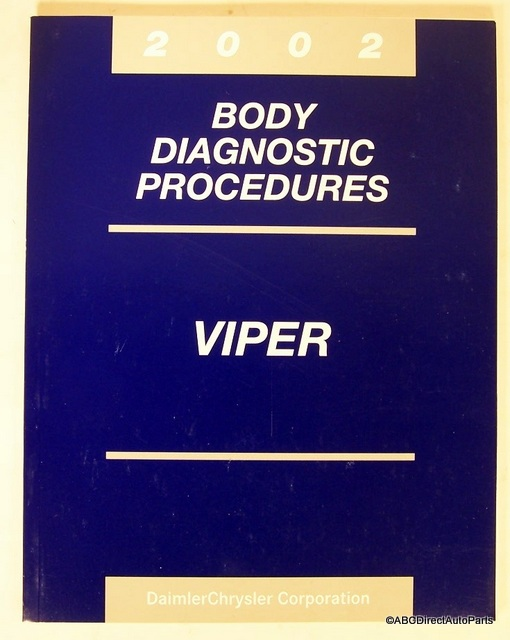2002 Dodge Viper GTS RT/10 Body Diagnostic Procedures Manual
