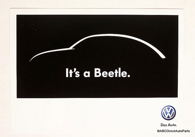 2012 VW Volkswagen Beetle Dealer Promo Sales Card