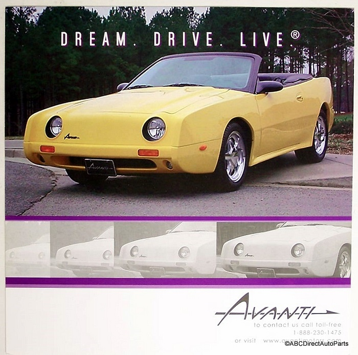 2005 Studebaker Avanti Convertible Dealer Sales Brochure