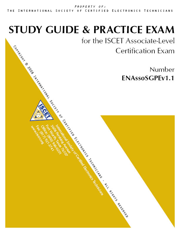 electronics cet certification study guides and practice tests rh store nesda iscet org associate cet study guide - 6th edition associate cet study guide - 6th edition