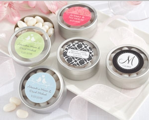 """""""Simply Sweet"""" Round, Personalized Candy Tin (set of 12)"""