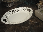 D'Lusso Ivory Oval Tray
