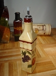 Tuscan Style Handpainted Oil Bottle