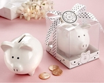 �Li�l Saver Favor� Ceramic Mini-Piggy Bank in Gift Box with Polka-Dot Bow