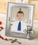 Regal Favor Cross Adorned Picture Frame Religious Favors