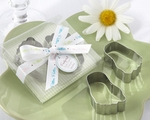 """Pitter-Patter of Little Feet"" Stainless-Steel Baby Footprint Cookie Cutters - Out of Stock 'til 3/1/11"