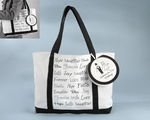 "Welcome to Our Wedding"" Canvas Tote Bag (Can be Personalized)"