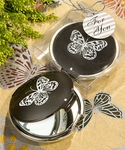 Butterfly Compact Mirror Favors - Elegant Reflections Collection