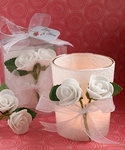 White Rose Candle Favors