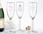 Personalized Champagne Flute ~ Choose from Many Designs