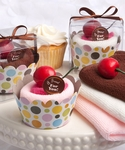 Cupcake Design Towel Cake Favors