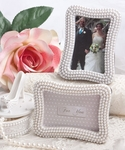 """Strands of Pearls"" Place Card Photo Frames"