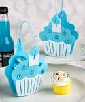 Blue Cupcake Treat Favor Bags