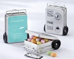 """Miles of Memories"" Suitcase Favor Tins with Optional Personalized Labels(Set of 12)"