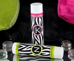 Monogrammed Organic Lip Balm�-Zebra  ~ Letters A-Z Available