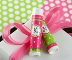Monogrammed Organic Lip Balm™ Polka Dots ~ Letters A-Z Available