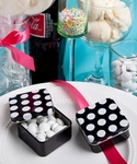 Black & White Polka Dot Mint Tin Favors