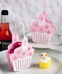 Pink Cupcake Treat Favor Bags