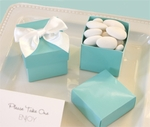 Mini Cube Boxes - Aqua Blue (set of 12)