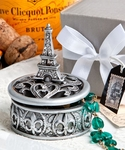 Eiffel Tower & Fleur de Lis Design Curio Box Favors