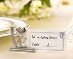 """LOVE"" Place Card Holder/Photo Holder with Matching Place Cards (Set of 4)"