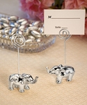Silver Finish Elephant Place Card Holders