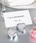 Bling Collection Heart Place Card Holder Favors