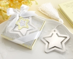 """A Star is Born!"" Metal Bookmark with White-Silk Tassel Favors"