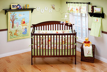 Out of stock Winnie the Pooh 4 Piece Crib Bedding Set - Playful Day