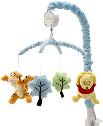 Pooh Up and Away Musical Mobile