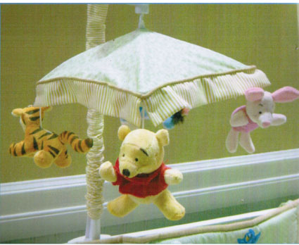 Disney Pooh Baby Musical Mobile Friends Indeed