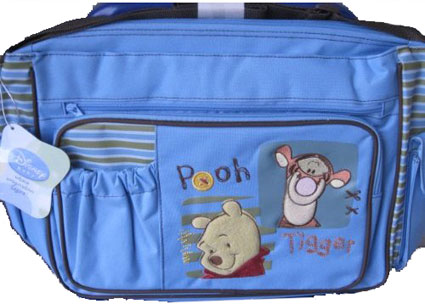 Winnie the Pooh and Tigger Large Diaper Bag - Boys