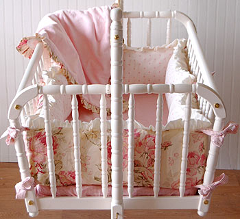 Out of Stock Bed of Roses Cradle Bedding Set