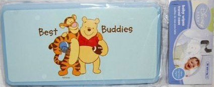 Winnie The Pooh Baby Wipes Travel Case - 2 Pack