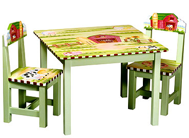 Little Farm House Child's Table and Chairs Set