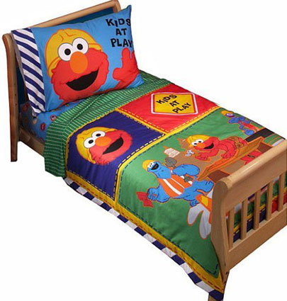 Sesame Street Elmo Toddler Bedding 4-Pc Set