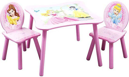 Disney Princess Kids Table and Chairs Set