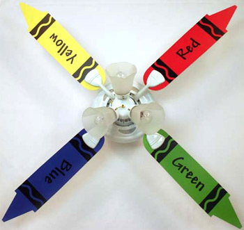 Crayon Baby Nursery Ceiling Fan With Lights Kids Ceiling