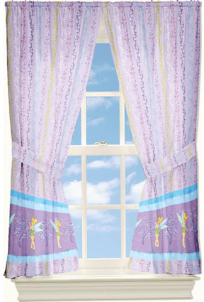 Tinkerbell Morning Glory Window Drapes