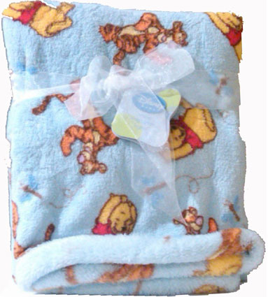 Winnie the Pooh Printed Boa Baby Blanket for Boy or Girl