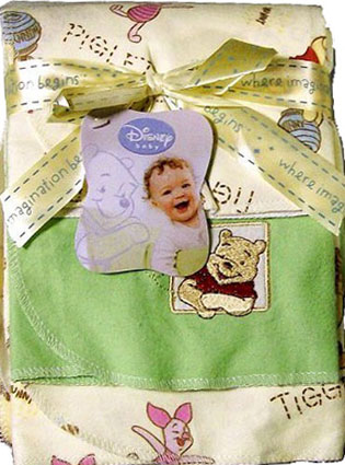 Winnie the Pooh Flannel Baby Receiving Blankets 3 Pk