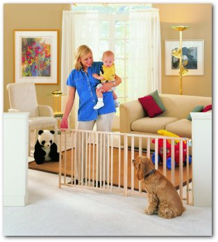Extra-Wide Expandable Swing Baby Safety Gate