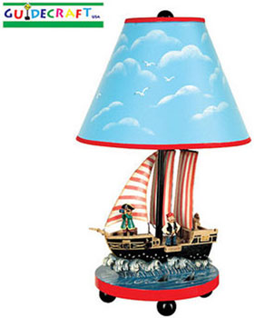 Boys Pirate Table Lamp
