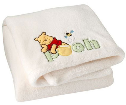 Winnie the Pooh Baby Blanket Embroidered Super Soft